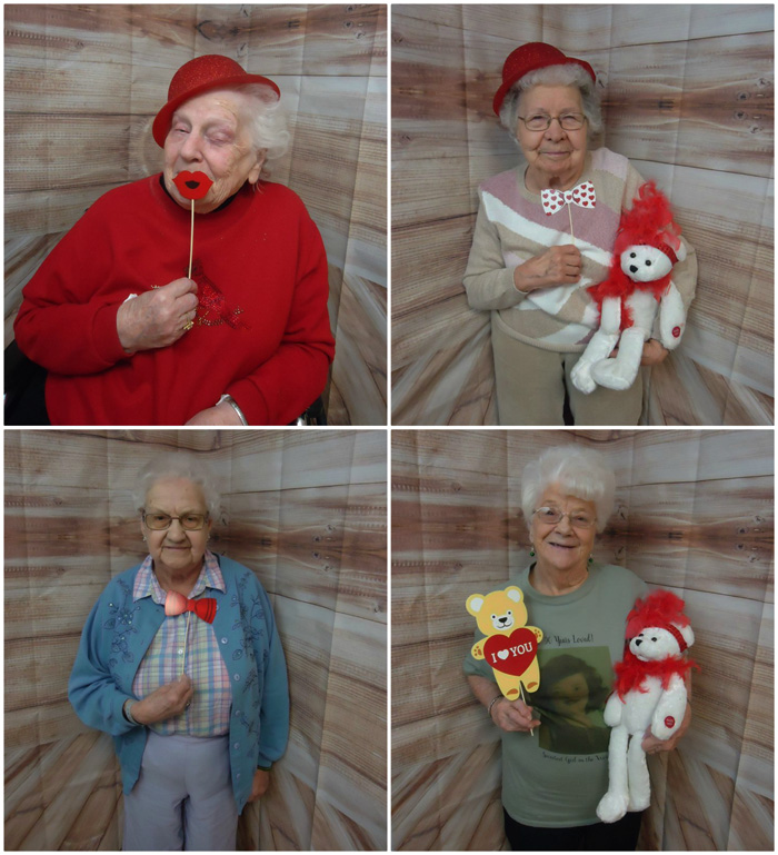 "DCCCI / DuBois Village Personal Care Residents and Staff and Village View Tenants and Staff enjoyed a fun ""Selfie Saturday"" on 2/9. Here are a few pics to send you all heartfelt wishes for a very Happy Valentine's Day."