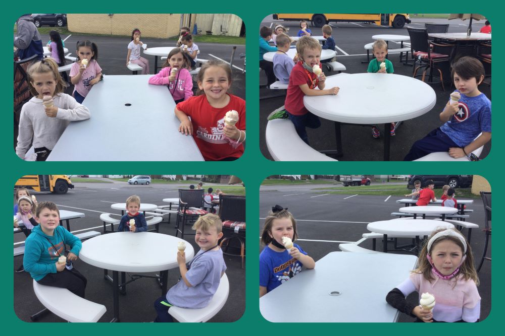 DuBois Central Catholic Kindergarten enjoys a treat on their field trip  🍦