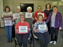 Residents from the Park Avenue Apartments in Curwensville recently graduated from a Healthy Steps in Motion class as part of the Clearfield County Area Agency on Aging, Inc. Health & Wellness program.  The participants attended class for eight weeks and celebrated with a graduation on March 19. > TO READ FULL STORY PLEASE CLICK LINK BELOW PHOTO.