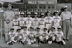 """This is a DuBois Little League Team sponsored by """"Variety Dist. Co."""" from 1958. There were no names submitted but these ball players are now in their mid 70's."""