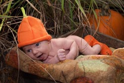 Do not disappoint this little naked pumpkin named Atticus who will be looking for lots & lots of candy this Halloween. (Photo by Shelby Hoover)