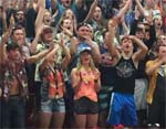 "This is what school spirit looks like! DAHS students: ""Let's make it happen on EVERY home event!"""