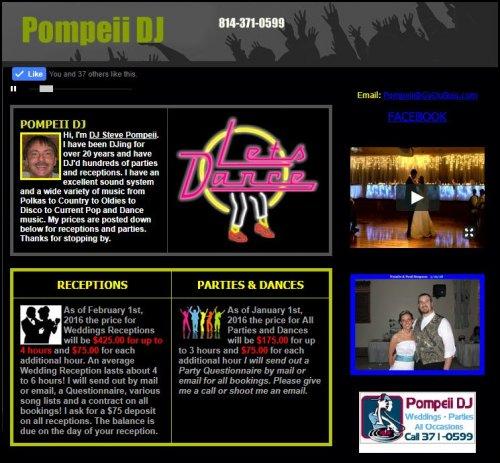 Pompeii Dj 814 371 0599 Entertainment Music Goduboiscom