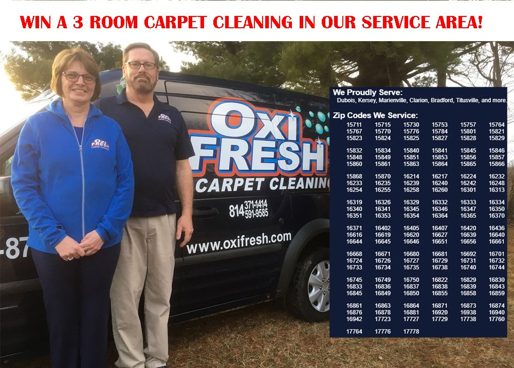 WIN A FREE 3 ROOM CARPET CLEANING!! >> Contest ends 8/14/19 @ 11:59 pm