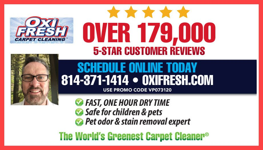 3 GREAT COUPONS FROM OXI FRESH CARPET CLEANING!